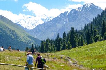 trekking in Kyrgyz mountains