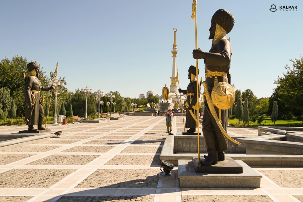 Ashgabat city in Turkmenistan