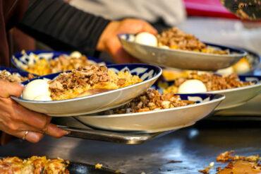 Plov is important dish in Uzbek cuisine