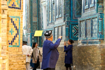 Shahizinda photographed by local people