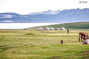 yurts at the Song kul lake in Kyrgyzstan