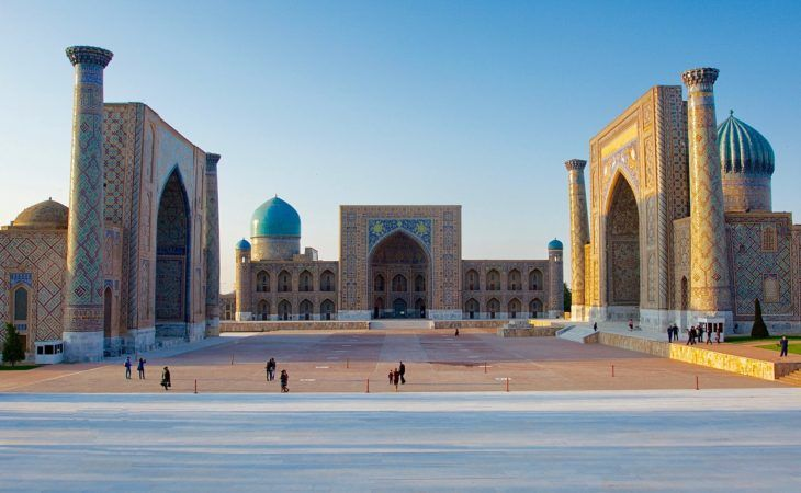 Best of Central Asia Tour - Registan square of Samarkand