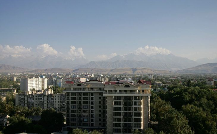 rooftop view of Bishkek with buildings in Central Asia Travel Tour