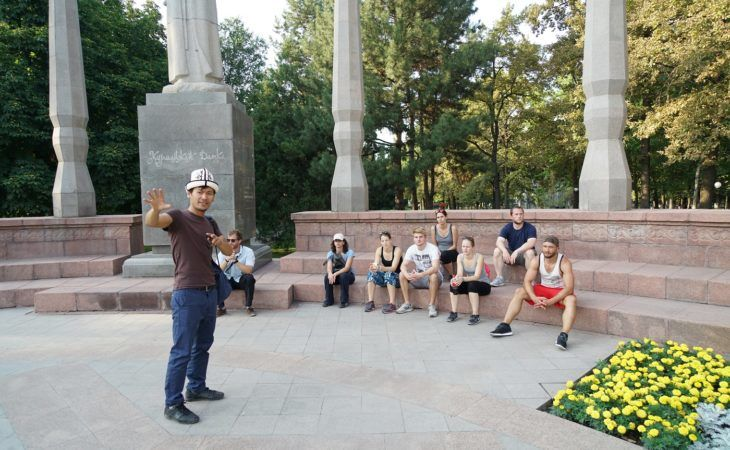 kyrgyz travel guide in Bishkek during Central Asia tour