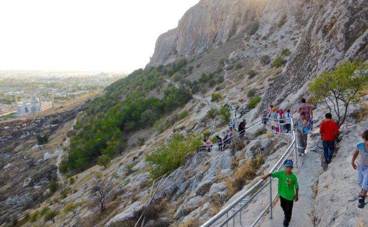 Climbing Osh sulaiman too, Kyrgyzstan, solomon mount