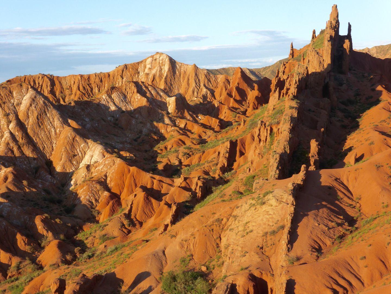 fairytale skazka canyon in Kyrgyzstan holidays near Issyk kul