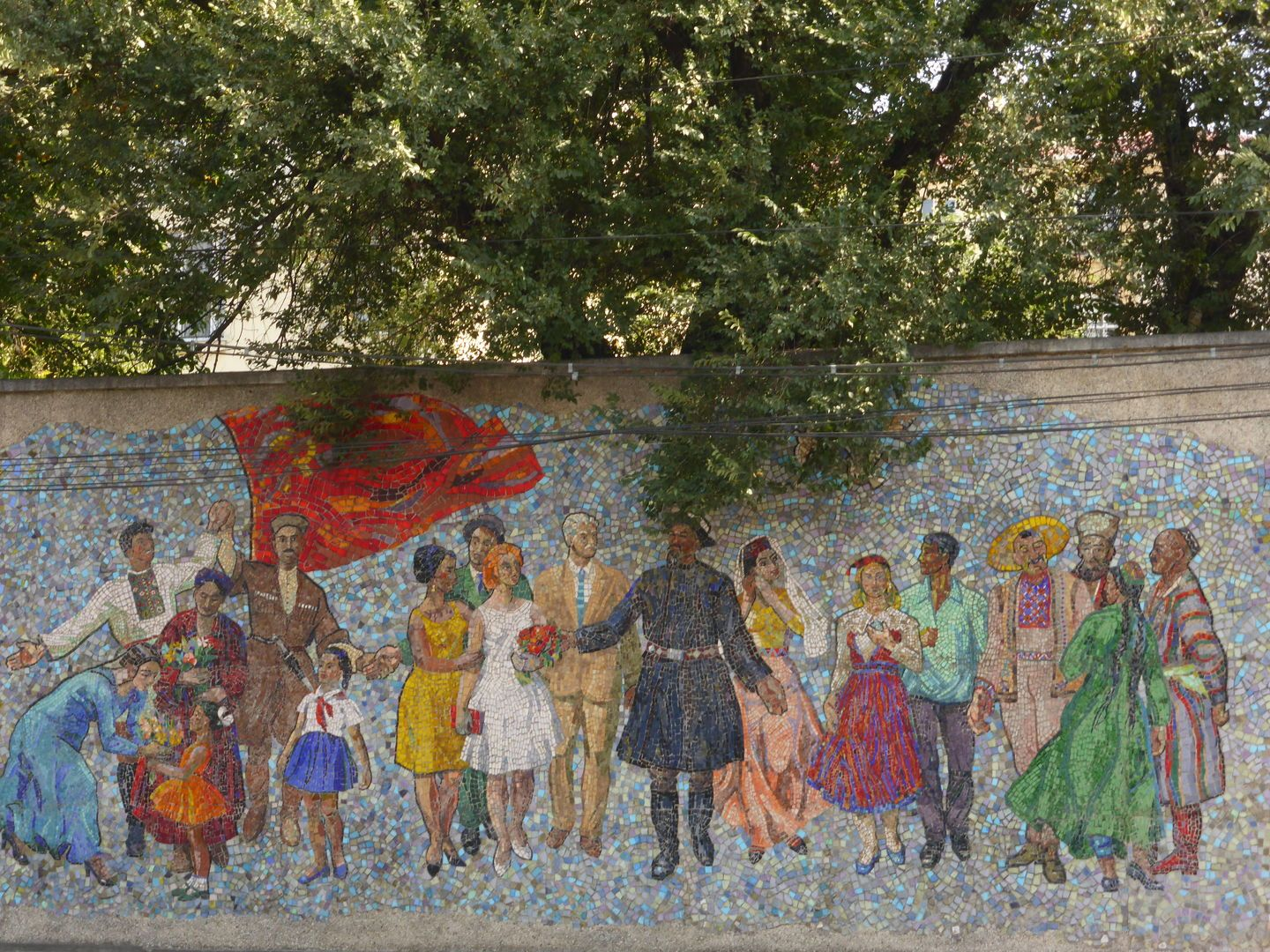 mosaic friendship of nations in Bishkek, Central Asia Tour
