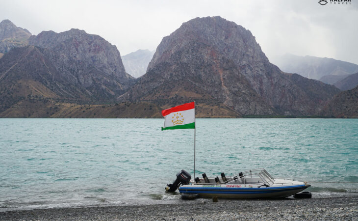 Iskanderkul lake in Tajikistan