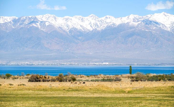Issykkul lake in Kyrgyzstan