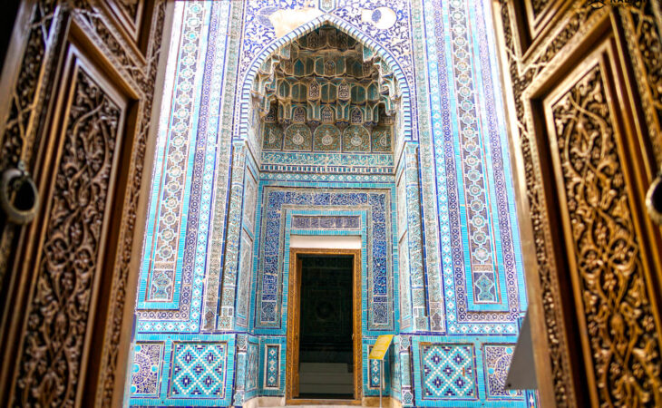 Silk road hertage of blue tiles