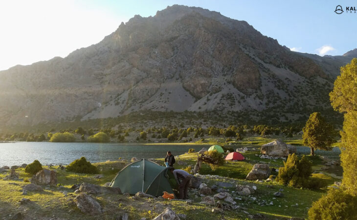Tajikistan tents in camping