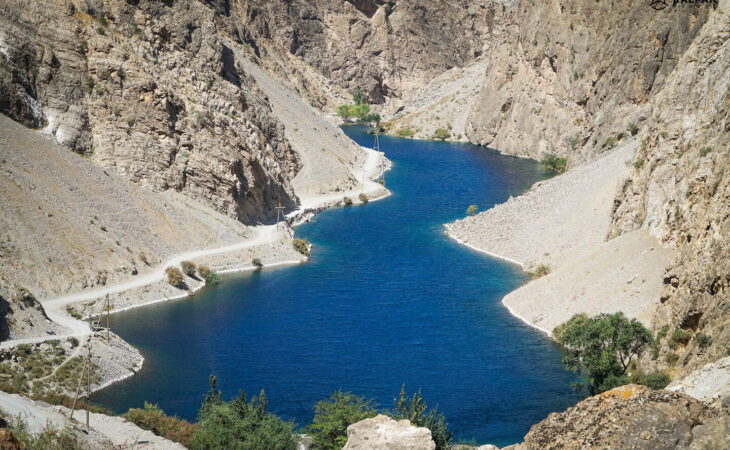 Tajikistan one of the seven lakes in the Fan mountains