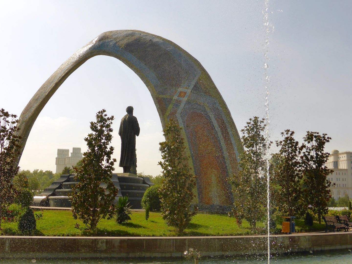 Rudaki Park in Dushanbe, Central Asia