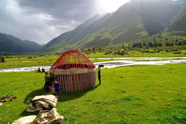 yurt of nomads, kyrgyzstan travel in Central Asia tour