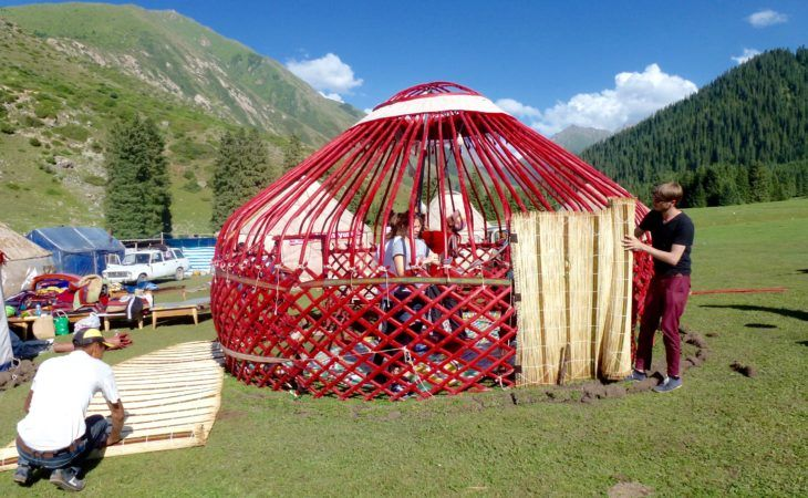 covering the yurt, learn how to uild a yurt