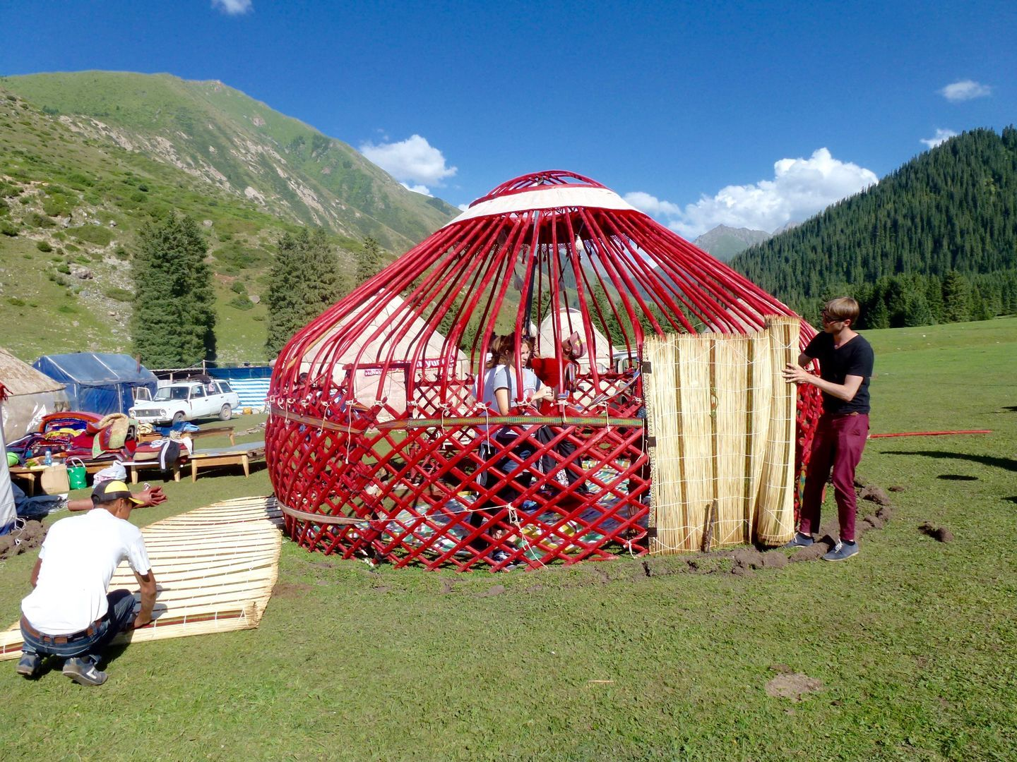 covering the yurt