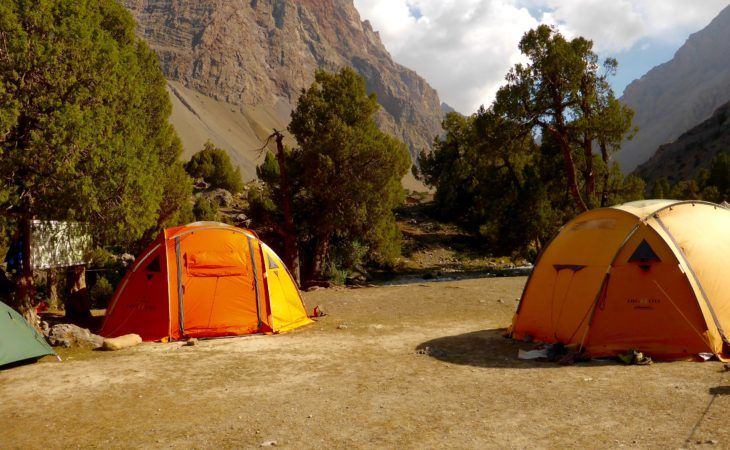 camping in the Fann mountains of Tajikistan