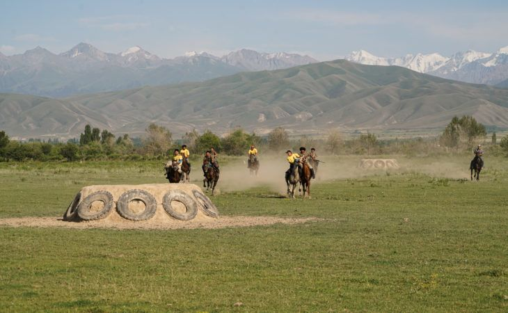 Kok Boru or Buzkashi horse game in Central Asia