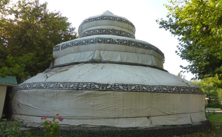 Best of Central Asia: three storied Kyrgyz yurt in Osh