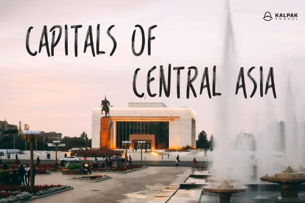 Map 9f Asia.Central Asian Capitals Kalpak Travel