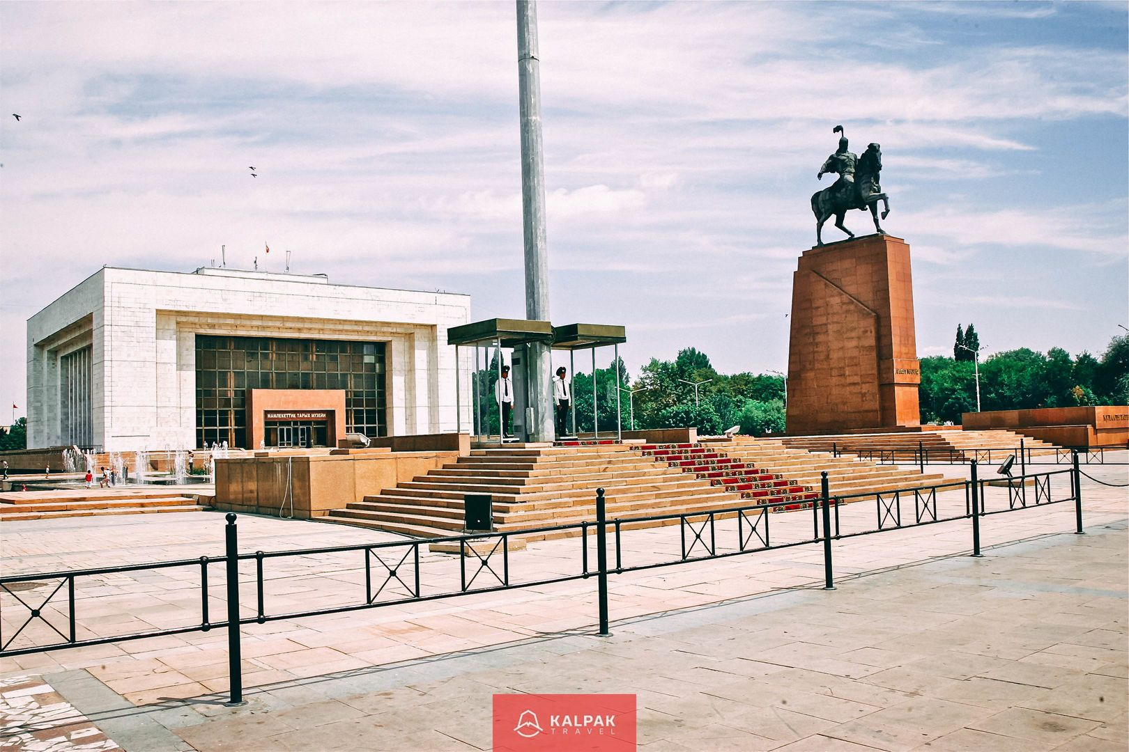 horses Kyrgyzstan, monument