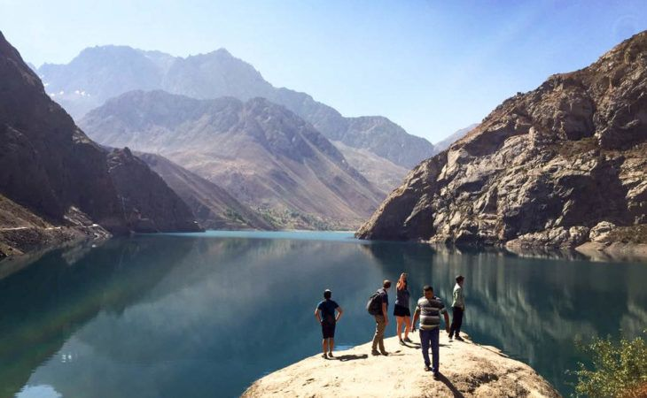 Tajikistan tour, Iskanderkul (Alexander Lake) in Fann Mountains, Central Asia