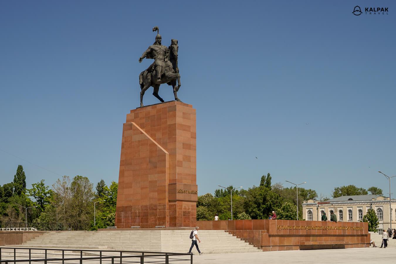 Manas statue in Bishkek