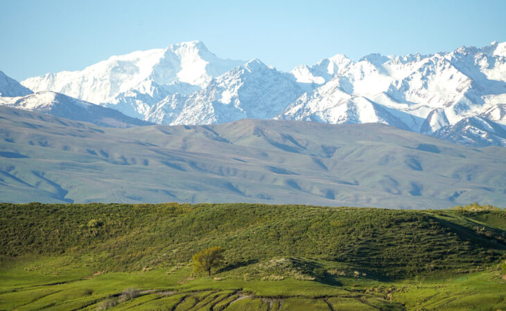 Tian Shan mountains in Central Asia