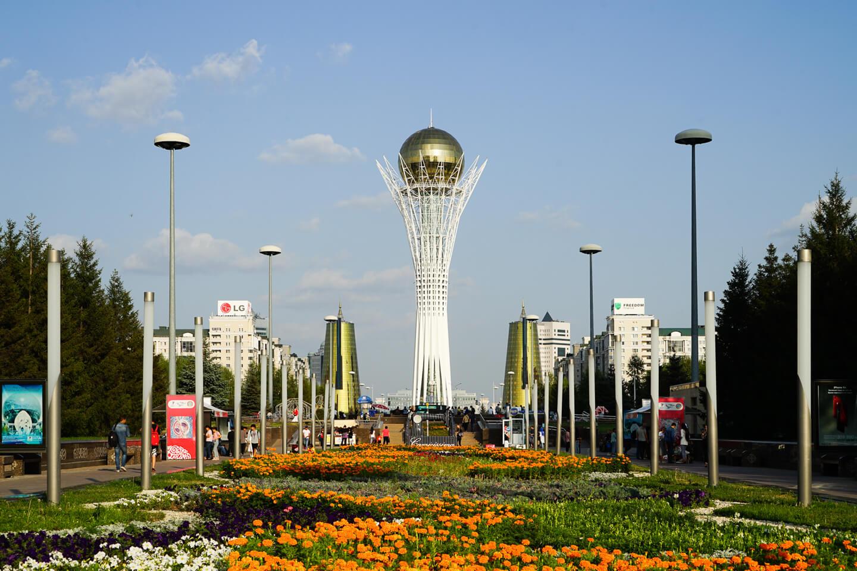 Nur-Sultan with its symbol Baiterek