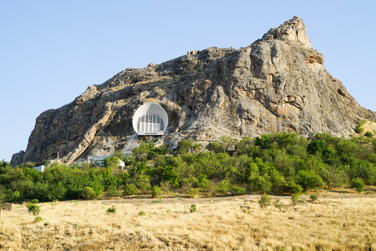 Suleiman Mountain with cave in Osh