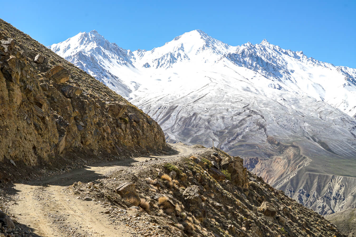 Pamir Highway in Central Asia