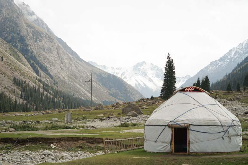 Trekking with yurts in Kyrgyzstan