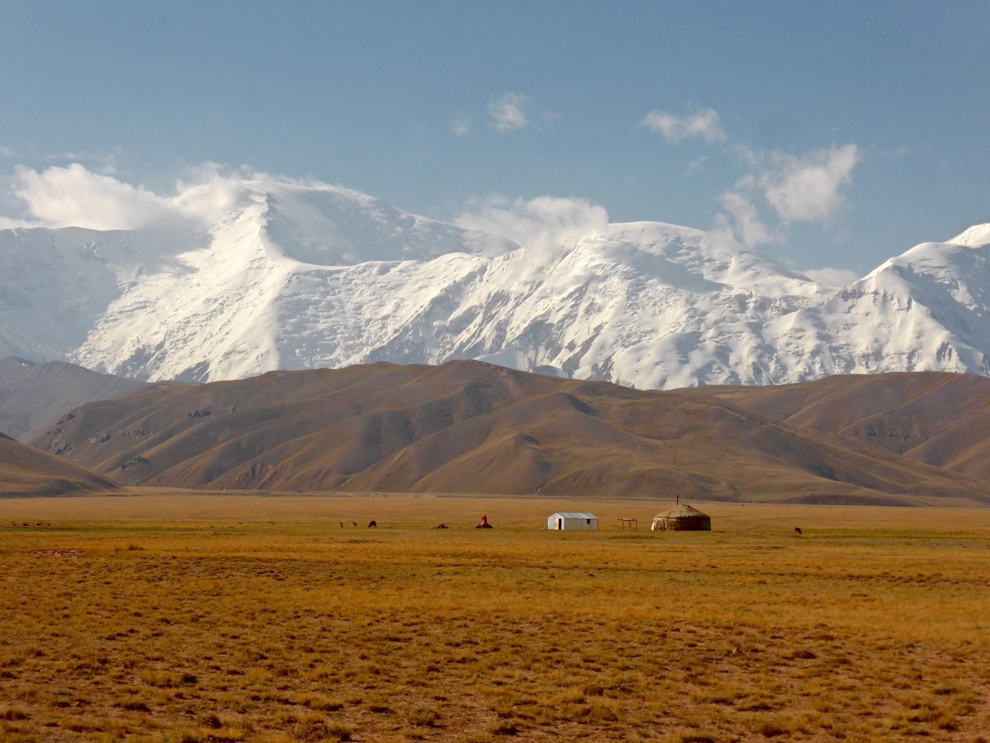 Lenin Peak in Kyrgyzstan, mountain climbing travel