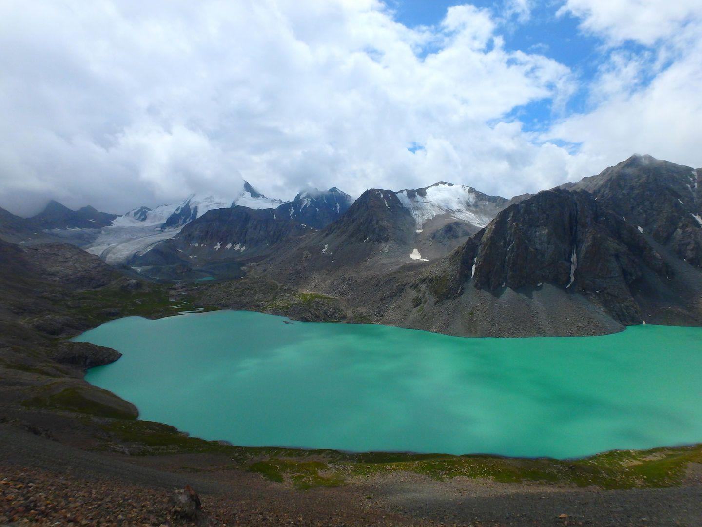 Ala Kul lake in Kyrgyzstan