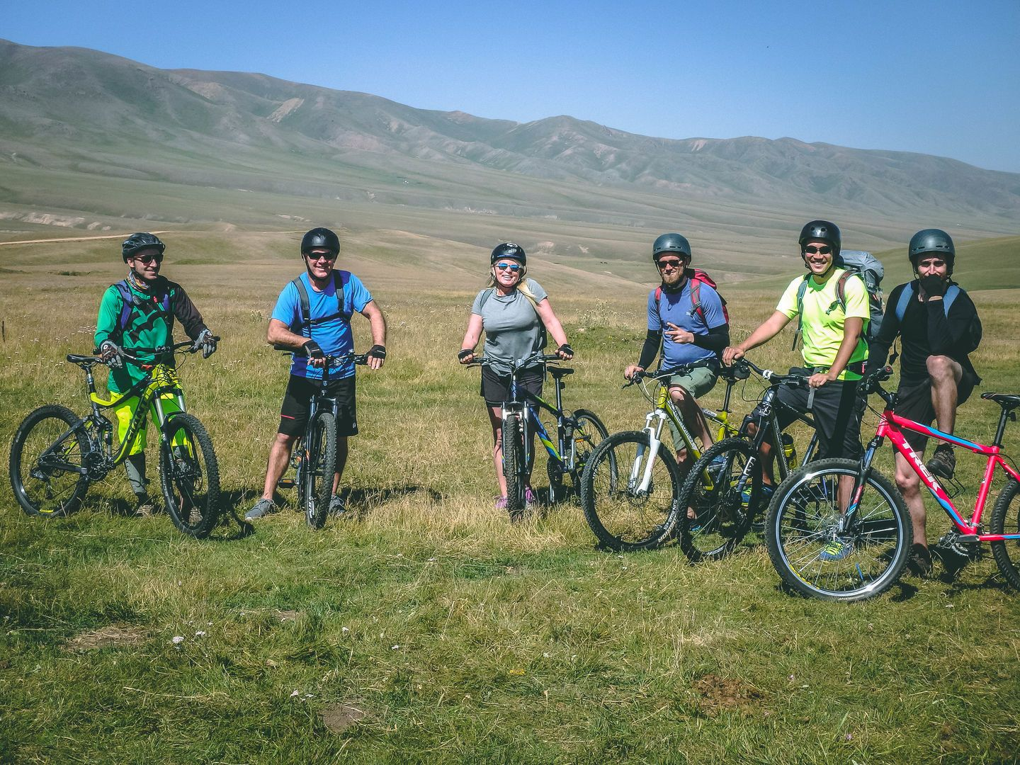 Kyrgyzstan Cycling Tourists Karkara Valley