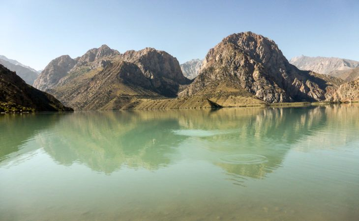 Iskander kul lake view in the list of top ten places to see in tajikistan