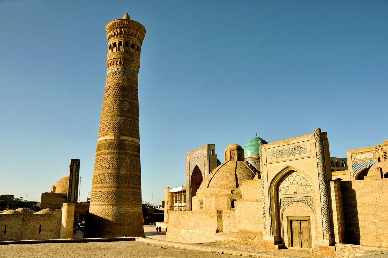 minaret in bukhara during uzbekistan travel