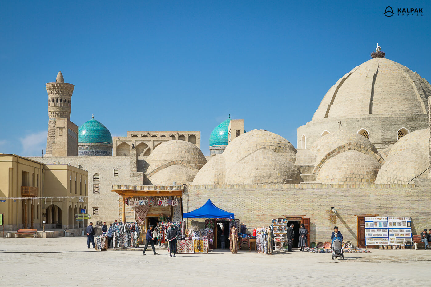 Bukhara markets with its clay domes in Uzbekistan