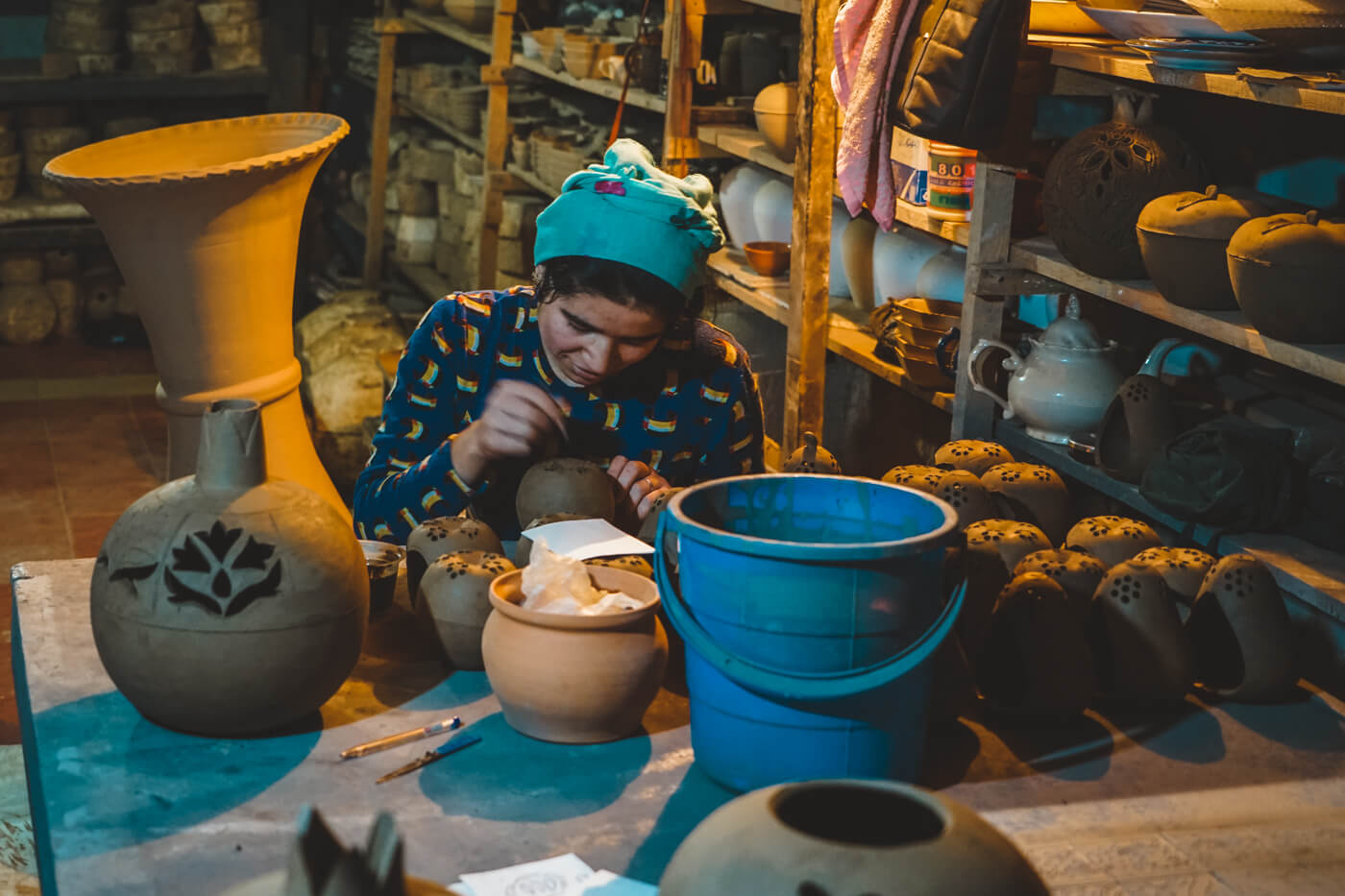 Fergana pottery master in Uzbekistan