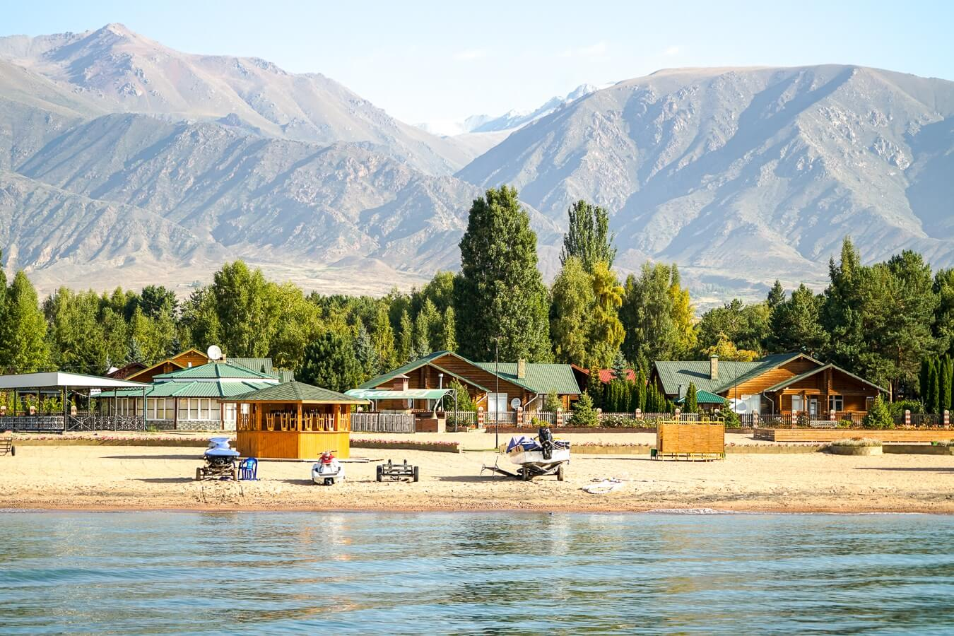 Issyk Kul lake is one of the top places to see in Kyrgyzstan