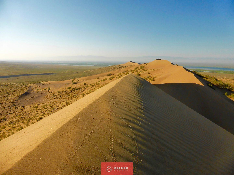 Kazakhstan travel, sand dune in Altyn Emel