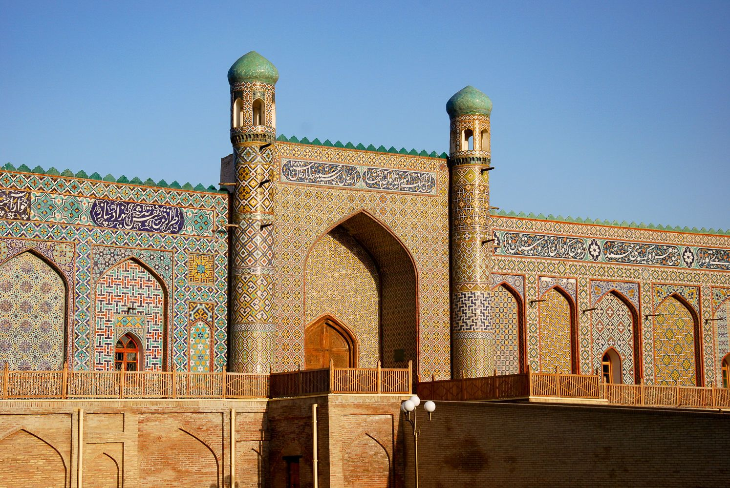 kokand city palace of Khudoyar khan in Fergana Uzbekistan travel