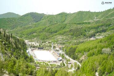 Medeu ice skating rink in Kazakhstan