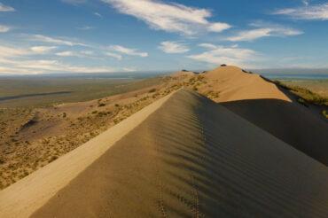 Singing dunes in national park in Kazakhstan