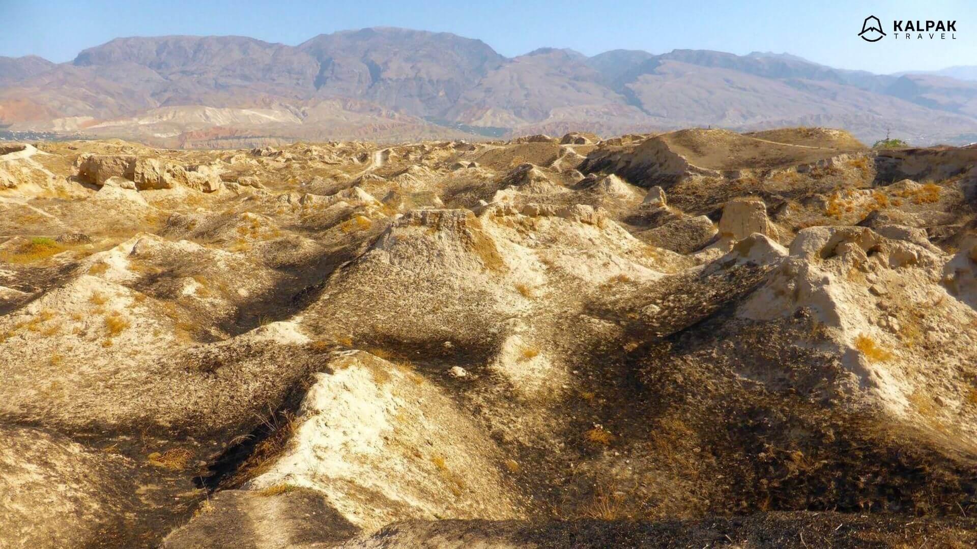 Tajikistan ancient ruins of Penjikent city