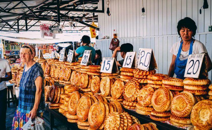 Central Asia traditional bread lepeshka
