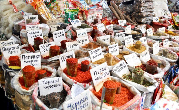 Silk Road spices bazaar