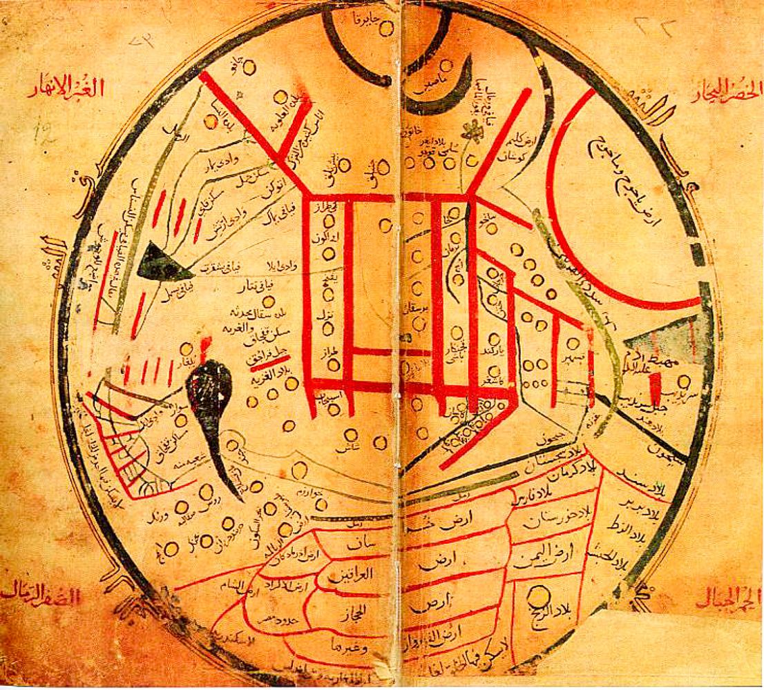 ancient turkic round world map by mahmud Kashgari