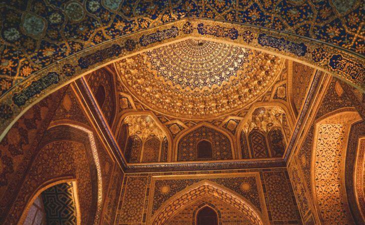 Tilla Kori, golden building interior, Samarkand