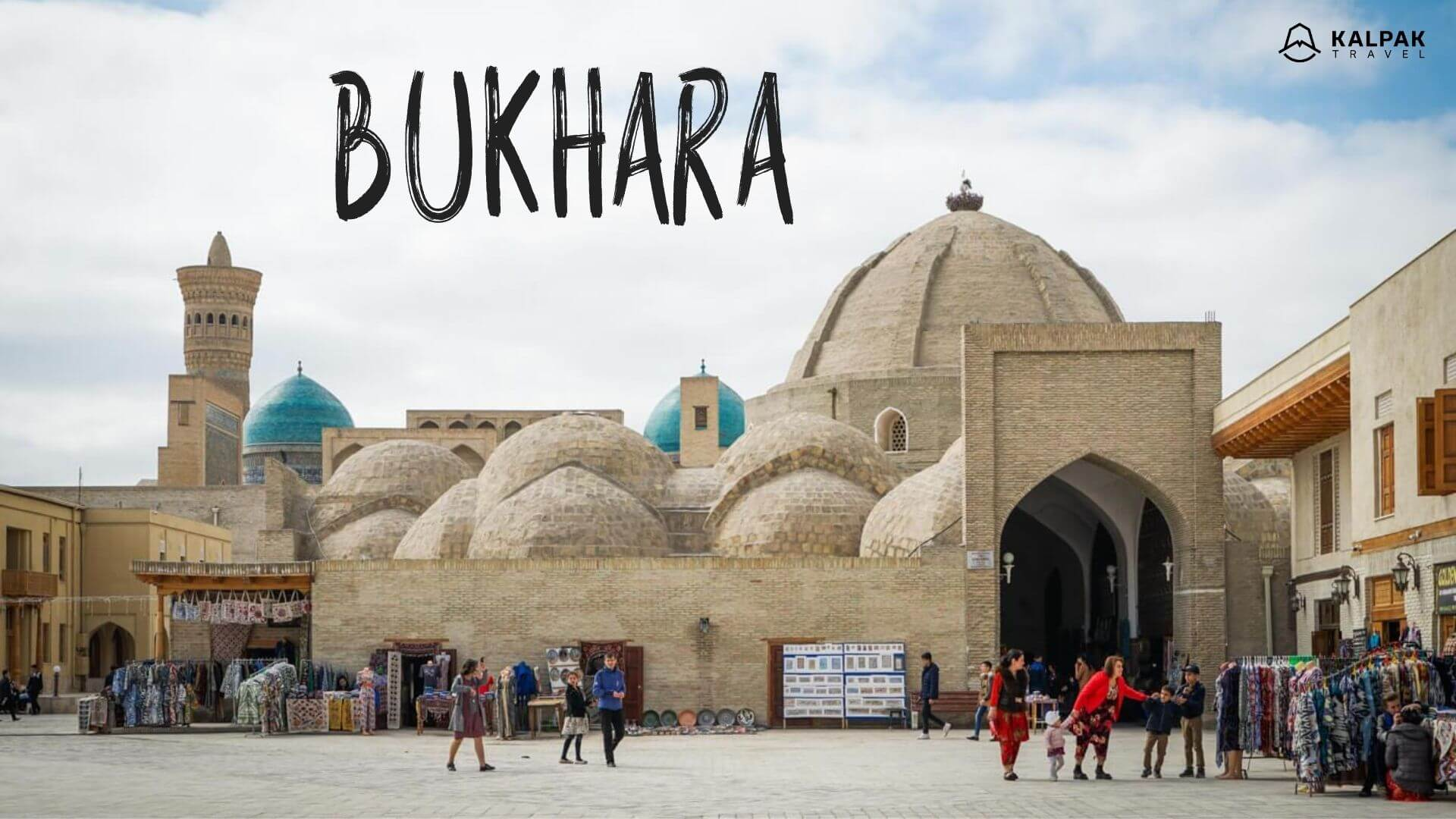 Bukhara domes with covered market in Uzbekistan